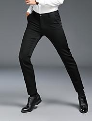 tanie -Męskie Podstawowy Garnitury Spodnie - Solidne kolory Czarny