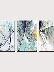 זול -דפוס הדפסי בד מגולגל - מופשט מודרני קלסי שלושה פנלים