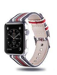 Недорогие -Ремешок для часов для Apple Watch Series 4/3/2/1 Apple Классическая застежка Нейлон Повязка на запястье