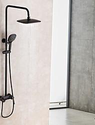 رخيصةأون -حنفية دش - أنتيك الكروم / برونز مفروك بزيت مثبت على الحائط صمام سيراميكي Bath Shower Mixer Taps