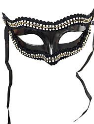 preiswerte -Superheld Cosplay Kostüme Maske Kinder Erwachsene Herrn Cosplay Halloween Halloween Karneval Maskerade Fest / Feiertage Kleben Weiß / Schwarz Karneval Kostüme Kristalle