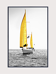 cheap -Framed Art Print Framed Canvas - Aquatic & Nautical Plastic Illustration Wall Art