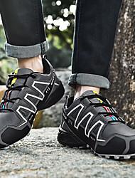 Недорогие -Муж. Легкие подошвы Синтетика Весна Спортивные / На каждый день Спортивная обувь Беговая обувь / Для пешеходного туризма Нескользкий Черно-белый / Зеленый / Оранжевый и черный