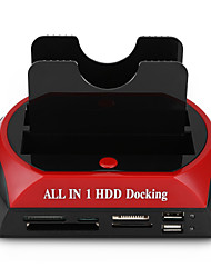 hesapli -LITBest USB 3.0 için IDE SATA Harici Sabit Disk Yerleştirme İstasyonu Kart Okuyucu ile (lar) / Aracı ücretsiz kurulum / USB Bağlantı Noktaları ile / Harici AC Güç Adaptörü Dahil 4000 GB SKU1003
