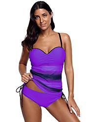 ราคาถูก -สำหรับผู้หญิง ชุดว่ายน้ำ Rashguard การป้องกันรังสียูวี แห้งเร็ว สวมใส่ได้ ไนลอน เสื้อไม่มีแขน ชุดว่ายน้ำ ชุดสำหรับไปชายหาด ชุดว่ายน้ำ การทาสี การว่ายน้ำ การดำน้ำ / ยืด