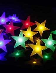 Недорогие -2 м 20 светодиоды молочно-белые звезды струнные светильники белый теплый белый многоцветный ну вечеринку декоративные прекрасный 3 аа с питанием от батареи 1 шт.