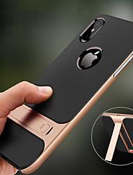 Недорогие -чехол для яблока iphone xr xs max с подставкой противоударная задняя крышка сплошного цвета жесткий тпу xs x 8 плюс 8 7 плюс 7 6s плюс 6s 6 плюс 6