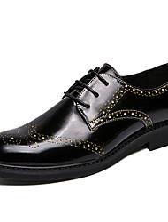 Χαμηλού Κόστους -Ανδρικά Τα επίσημα παπούτσια Συνθετικά Άνοιξη / Φθινόπωρο Καθημερινό / Βρετανικό Oxfords Μη ολίσθηση Χρυσό / Ασημί