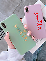 Недорогие -чехол для яблока iphone xr / iphone xs max шаблон задняя крышка слово / фраза мягкое тпу для iphone 6 6 plus 6s 6splus 7 8 7plus 8plus x xs xr xsmax