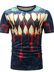 abordables -Hombre Camiseta Gráfico Azul Piscina XL