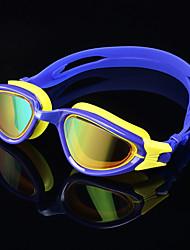 Недорогие -плавательные очки Водонепроницаемость Противо-туманное покрытие Защита от солнца силиконовый Резина Поликарбонат желтый красный черный