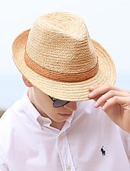 Χαμηλού Κόστους -Άχυρο Ψάθινα καπέλα με Πλεκτό Λουράκι 1 τμχ Καθημερινά Ρούχα / Belmont Stakes Headpiece