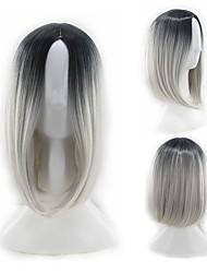 levne -Syntetické paruky Rovné, bláznivé Styl Střední část Bez krytky Paruka Bílá Černá / Bílá Umělé vlasy 12 inch Dámské Zářící barvy Bílá Paruka Dlouhý Přírodní paruka