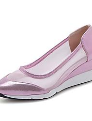 povoljno -Žene Mrežica / PU Proljeće ljeto Cipele na petu Wedge Heel Krakova Toe Zlato / Srebro / Pink