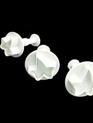 halpa -3kpl Silikoni Creative Kitchen Gadget Uutuusvälineet keittiöön jälkiruoka Työkalut Bakeware-työkalut