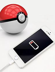 Недорогие -новинка новейший горячий быстрый заряд телефона красный шар зарядное устройство 10000ma зарядное устройство со светодиодной подсветкой мобильная игра косплей покемон