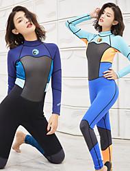 halpa -JIAAO Naisten Skin-tyyppinen märkäpuku Sukelluspuvut UV-aurinkosuojaus Sukellus Patchwork Kesä