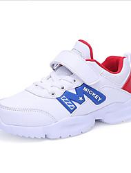 Недорогие -Мальчики Обувь Искусственная кожа Осень Удобная обувь Спортивная обувь для Белый / Темно-синий