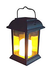 billige -1pc 0.2 W Lawn Lights / Led Street Light Solar Gul 1.2 V Udendørsbelysning / Gårdsplads / Have LED Perler