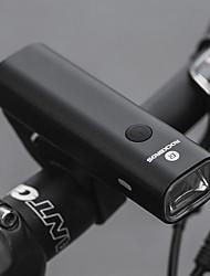 Недорогие -Светодиодная лампа Велосипедные фары Передняя фара для велосипеда Велоспорт Портативные Для профессионалов Прочный Литий-ионная 400 lm Работает от USB Батарея Белый / Алюминиевый сплав