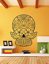 Недорогие -saingace хэллоуин скелет фон декоративные настенные наклейки