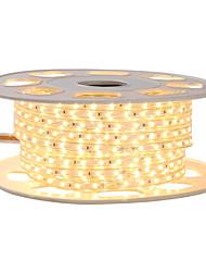 Недорогие -KWB 4 м блеск декор светодиодные полосы света 220 В гибкие водонепроницаемые веревочные светильники 5050 10 мм 240 светодиодов для внутреннего наружного коммерческого освещения украшения