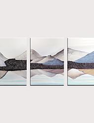 tanie -Nadruk Zwijane wydruki na płótnie - Krajobraz Natura i krajobrazy Klasyczny Trzy panele