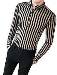 povoljno -Majica Muškarci Prugasti uzorak Crn XL