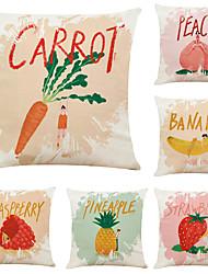 Недорогие -набор из 6 фруктов девушка с рисунком льняные квадратные декоративные наволочки диванные чехлы 18х18