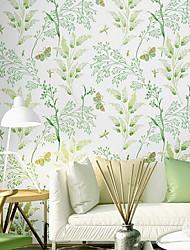 Χαμηλού Κόστους -ταπετσαρία Nonwoven Κάλυψης τοίχων - κόλλα που απαιτείται Δένδρα / φύλλα
