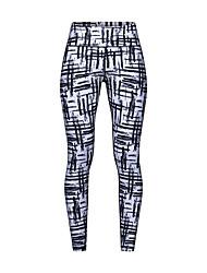 levne -Dámské Kalhoty na jógu černá / bílá Sportovní Módní Cyklistické kalhoty Běh Fitness Gym workout Sportovní oděvy Lehká váha Prodyšné Odvod vlhkosti Rychleschnoucí Vysoká pružnost Štíhlý