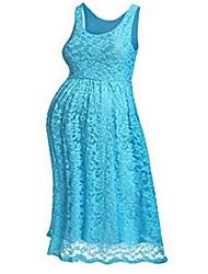 זול -מעל הברך תחרה, אחיד - שמלה גזרת A בסיסי בגדי ריקוד נשים