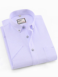abordables -Hombre Camisa A Rayas Gris XXL