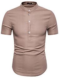 お買い得  -男性用 Tシャツ カラーブロック ルビーレッド L