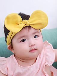 Недорогие -Дети (1-4 лет) Девочки Классический / Милая Однотонный С принтом Акрил Аксессуары для волос Розовый / Желтый Один размер