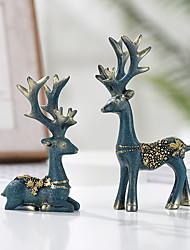 preiswerte -Dekorative Objekte, Harz Moderne zeitgenössische für Haus Dekoration Geschenke 2pcs