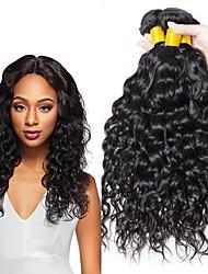hesapli -4 Paket Düz Brezilya Saçı Su Vanası Kökten Saç İnsan saç örgüleri Paketi Saç Gerçek Saç Postişleri 8-28 inç Doğal Renk İnsan saç örgüleri Yaratıcı Klasik Büyük indirim İnsan Saç Uzantıları Kadın's