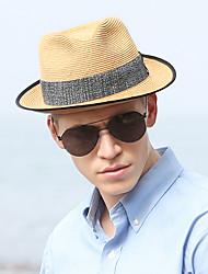 Χαμηλού Κόστους -Άχυρο Ψάθινα καπέλα με Κόψιμο 1 τμχ Καθημερινά Ρούχα / Belmont Stakes Headpiece