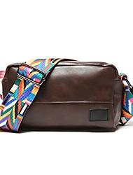 رخيصةأون -للجنسين أكياس PU حقيبة كروس سحاب لون الصلبة أسود / كوفي