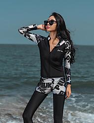 رخيصةأون -نسائي بدلات الغطس العميق حماية من الأشعة فوق البنفسجية خفيف جدا (UL) سريع جاف تيريليني بدون كم ملابس السباحة ملابس الشاطئ سترات للغوص لون سادة سباحة غوص / قابل للبسط