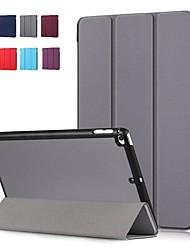 Недорогие -Кейс для Назначение Apple iPad Mini 5 / iPad Mini 4 Защита от удара / Флип / Оригами Чехол Однотонный Твердый Кожа PU