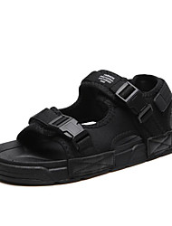 cheap -Men's Comfort Shoes Synthetics Summer Sandals Black / Black / Silver / Black / Red