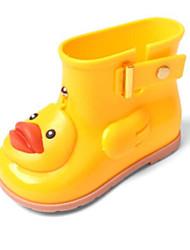 halpa -Tyttöjen Kengät PVC Syksy Comfort / Kumisaappaat Bootsit varten Lapset Keltainen / Sininen / Pinkki / Säärisaappaat