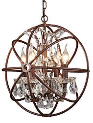 Недорогие -4-Light Шары / промышленные Люстры и лампы Рассеянное освещение Окрашенные отделки Металл Творчество 110-120Вольт / 220-240Вольт