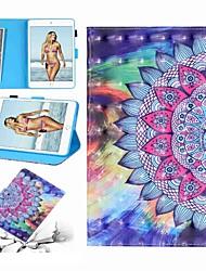Недорогие -Кейс для Назначение Apple iPad Air / iPad 4/3/2 / iPad (2018) Кошелек / Бумажник для карт / Защита от удара Чехол Мультипликация / Цветы Твердый Кожа PU / iPad (2017)