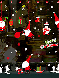 abordables -Stickers muraux Père Noël dessin animé Noël - stickers muraux avion transport / bureau d'étude de paysage / bureau / salle à manger / cuisine