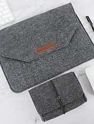 Недорогие -Чехол для ноутбука из натуральной шерсти с защитной сумкой и блоком питания 11-15 дюймов MacBook Pro MacBook Air Серый Черный