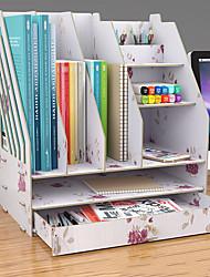 preiswerte -diy desktop buchregal desktop aufbewahrungsbox dokumente bücher lagerung mehrschichtige veredelung rack bürobedarf