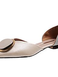 hesapli -Kadın's Ayakkabı PU Yaz Günlük Düz Ayakkabılar Düz Taban Günlük için Fiyonk Altın / Gümüş / Bej
