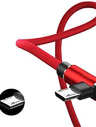 Недорогие -Micro USB Кабель 1.0m (3FT) Плетение / Быстрая зарядка Нейлон / TPE Адаптер USB-кабеля Назначение Samsung / Huawei / Xiaomi